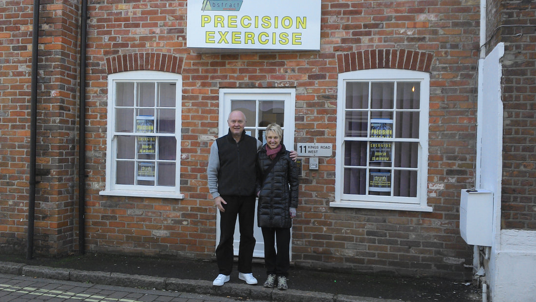 Pat and Stephen at our newest Abstract Bodyworks location in Newbury, England.